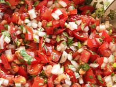 Salting and draining the tomatoes guarantees better flavor and texture in this take on the classic Mexican condiment.