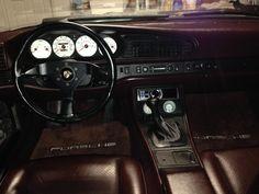 Porsche 944 interior.
