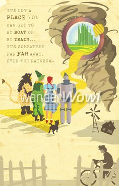 Wizard of Oz poster by wanderWowl.com designers