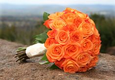 Wedding, Flowers, Blue, Orange