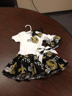 New Orleans Saints Baby Dress. $24.00, via Etsy.