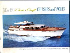 1960 66' Chris Craft Constellation. I saw a couple restoring one of these a few years ago. It was an engineering dream, and so beautiful.