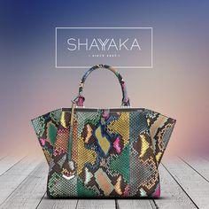 19c48b6c7d Fendi Trois-Jour Petite Painted Python Tote Bag in Multicolors