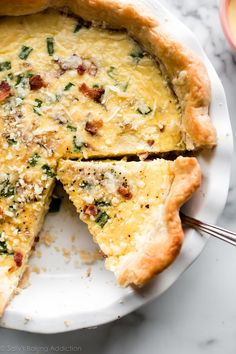 tasty-recipes-quick-links a { padding: } This is a perfect base quiche recipe and it's all baked in a super flaky homemade pie crust. Homemade Pie Crusts, Pie Crust Recipes, Homemade Quiche, Perfect Quiche Recipe, Quiche Crust Recipe, Quiche Lorraine Recipe, Breakfast Dishes, Breakfast Recipes, Gourmet