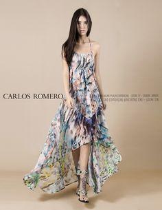 Vestido playero de corte asimétrico en seda estampada y espalda escotada! Resalta la feminidad y sensualidad de cada mujer con este diseño fresco, comodo y moderno!  Vestido y gladiadoras disponibles en nuestras tiendas!  Ventas nacionales a través de los WhatsApp +57 (315) 554-3934 - +57 (318) 407-7305 #Fashion #Moda #Colombia #CaliCo #NewCollection #Love #Chic #CR #CarlosRomero