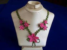 Needle Lace, Flower Necklace, Needlework, Diy And Crafts, Model, Flowers, Jewelry, Google, Accessories