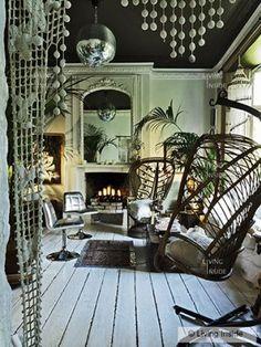 Chocolate Towers London home of Sera Hersham  Loftus, interior designer