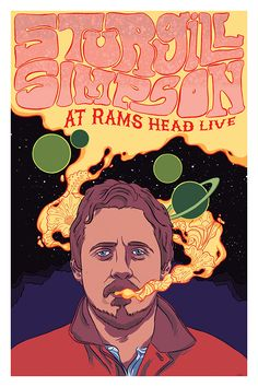 Competitive Scholarship 2016 on MICA Portfolios Sturgill Simpson, Simpsons Art, Quotes About Photography, Funky Art, Music Wall, Photo Wall Collage, Band Posters, Psychedelic Art, Concert Posters
