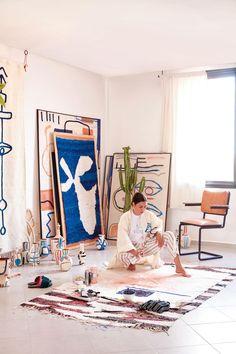 Decoration: immersion in Berber lunettes of the LRNCE label - - Painting Inspiration, Art Inspo, Studios D'art, Caravan Decor, Caravan Interiors, Home Music, Berber, Style Deco, Art Design