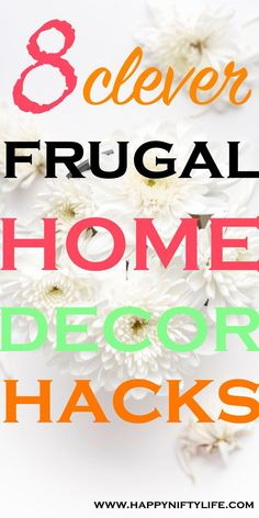 Amazing cheap DIY home decor and organizing hacks. If you are looking for frugal budget-friendly ways to decorate your home and organize clutter, you will love these simple ideas.