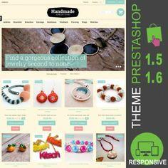 Thème Premium PrestaShop 1.5 et 1.6 pour site ecommerce destiné à la vente de perles et bijoux : boucles d'oreilles, colliers, bracelets, fils, accessoires…
