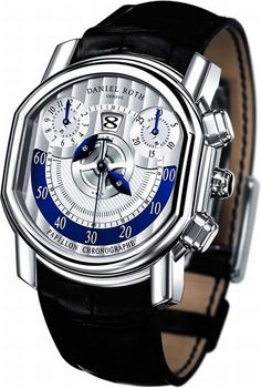 Daniel Roth Papillon Chronograph watch is now powered by a mechanical self-winding Frederic Piguet column-wheel chronograph caliber