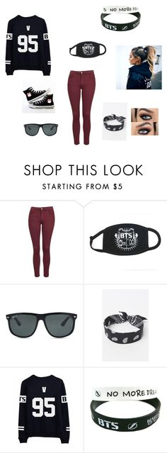 """""""My Concert outfit for Bts"""" by v-is-my-hubby on Polyvore featuring Topshop, Ray-Ban and LA: Hearts"""
