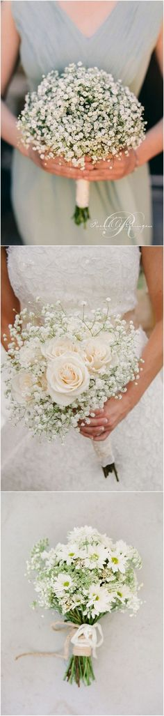 baby's breath wedding bouquets