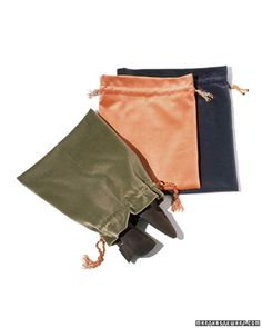 Slip your shoes into something comfortable while protecting them from scuffs: Store them in homemade velvet shoe bags.
