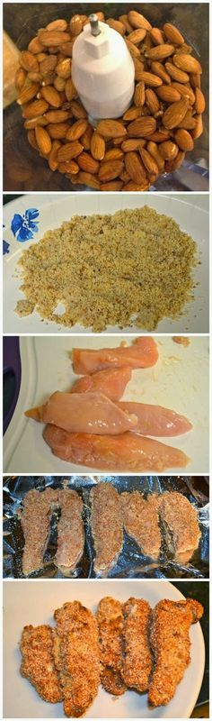 Almond Crusted Chicken Tenders ~ My husband loves these and they are completely healthy. (Freshdreamer)