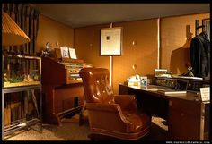 Elvis' office at Graceland. It was on the 2nd floor facing the back yard behind the mansion.
