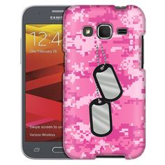 Samsung Galaxy Core Prime Nameplate on Digital Pink Camouflage Case