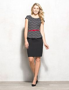 Peplum fun with sexy color belt for occasion