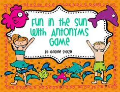 Just in time for summer! This is a fun board game to review antonyms. It comes with a colorful game board, directions, and answer sheet. Just print, laminate, and play!
