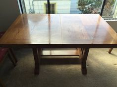 Free large dining table. Not sure if it will fit the space but maybe! http://seattle.craigslist.org/see/zip/4942645817.html