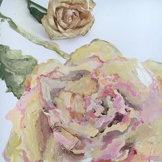 in progress, old rose study . . . #painting #oldroses #sketchbook #flowers #abstractflowers #doitfortheprocess #dsfloral #dscolor #carveouttimeforart #iloveflowers #inspiredbynature #neutrals #blush #nothingisordinary #wabisabi #contemporaryart #quiet #sonalmix #workinprogress #flowerstagram #vintage #artonpaper #oldisgold