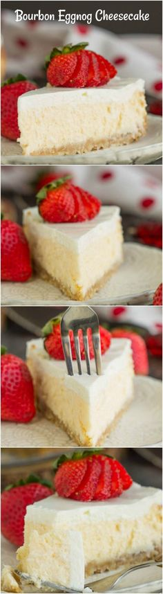 Woodford Reserve Bourbon Eggnog Cheesecake with Vanilla Wafer Crust https://www.callmepmc.com/woodford-reserve-bourbon-eggnog-cheesecake-with-vanilla-wafer-crust/?utm_campaign=coschedule&utm_source=pinterest&utm_medium=Paula%20%7C%20CallMePMc.com&utm_content=Woodford%20Reserve%20Bourbon%20Eggnog%20Cheesecake%20with%20Vanilla%20Wafer%20Crust