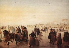 Avercamp Ice Scene - Oil on panel Rijksmuseum Krцller-Mьller, Otterlo Web Gallery Of Art, Baroque Painting, Dutch Golden Age, Hieronymus Bosch, Dutch Painters, European Paintings, Dutch Artists, Old Master, Winter Landscape