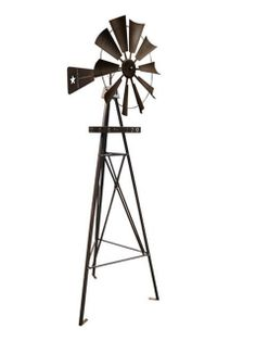 Our 9ft.Texas Flag Black Windmill is a great addition to your garden space