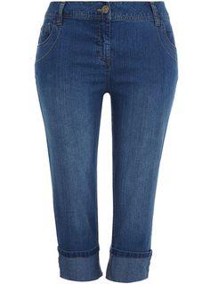 Evans Indigo denim crop jeans        Price: £18.00