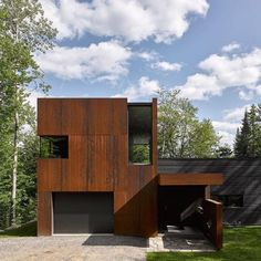 Montreal architect Paul Bernier has completed a two-storey home clad in blackened timber and weathering steel on the shores of a lake in rural Quebec. Find out more on http://ift.tt/1RayTxi #architecture #timber #quebec Photography by @jamesbrittainphotographs - Architecture and Home Decor - Bedroom - Bathroom - Kitchen And Living Room Interior Design Decorating Ideas - #architecture #design #interiordesign #homedesign #architect #architectural #homedecor #realestate #contemporaryart…