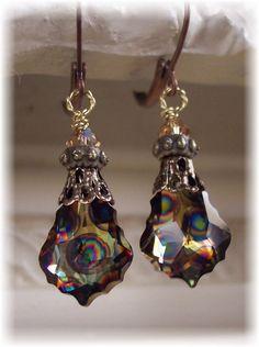 RARE Peacock Swarovski Baroque Crystal  by HisJewelsCreations, $22.00