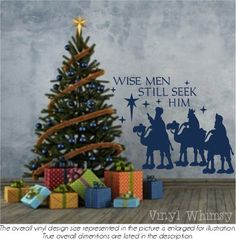 Vinyl Wall Art  Christmas Holiday Quote  Wise Men by VinylWhimsy
