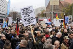 Supporters of Alternative for Germany at a rally in Berlin in November. Postwar...
