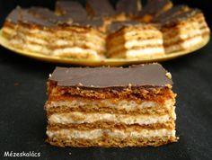 Mézeskalács konyha: Diós-tejfölös süti Advent 1. vasárnapjára Hungarian Desserts, Hungarian Cake, Hungarian Recipes, Sweets Recipes, My Recipes, Cookie Recipes, Torte Cake, Salty Snacks, Sweet Cookies
