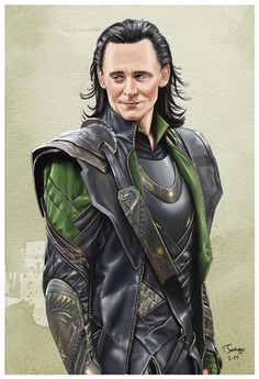 loki marvel fan art by artist tony santiago