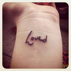 "I got very depressed a couple of years ago and had cut myself for a while. I always knew of the organization ""To Write Love On Her Arms"" that raises awareness of depression and self-harm, and I wrote ""love"" on my arm almost every day."