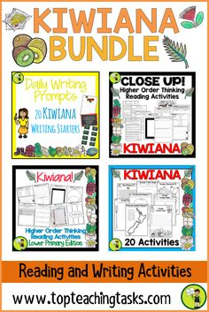 Kiwiana Literacy Bundle - New Zealand Reading, Writing and Creative Activities Primary Activities, Creative Activities, Writing Activities, Reading Resources, Teaching Reading, Primary Classroom, Elementary Teacher, Teaching Materials, Teaching Ideas