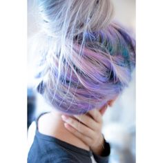 Rainbow Pastel Hair Is A New Trend Among Women ❤ liked on Polyvore featuring hair