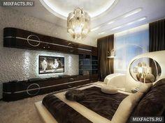 Дизайн спальни 12 кв.м в современном стиле