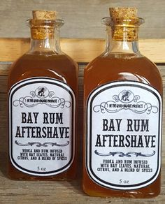 All Natural Aftershave for Men  Bay Rum by BeTheGoodOrganicSoap