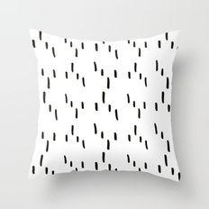 Random Lines Ikat Throw Pillow