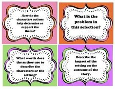 Comprehension Task Cards for Guided Reading FREE