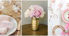 ¡Tu boda en rosa y dorado!