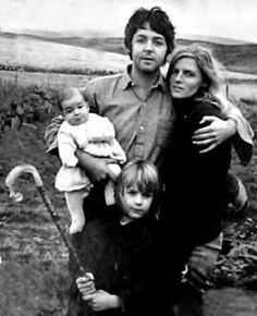 Paul and Linda McCartney with Heather and Mary, fall 1969