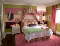 Teen Girl Bedroom Decorating Ideas | Create an Accent Wall With Big Stripes | DIY Girls Bedroom Ideas