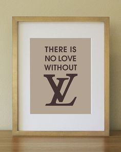 "Louis Vuitton Fan. Witty Print for the ""it"" Girl. Beige tan and Cooca Brown. Home Decor. 8 x 10. Wall Art on Etsy, $17.00"