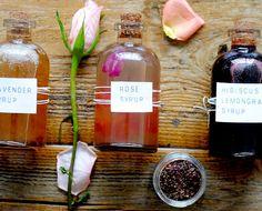 DIY Floral Syrups