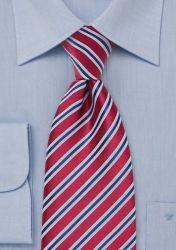 Herrenkrawatte XXL Streifendesign rot günstig kaufen