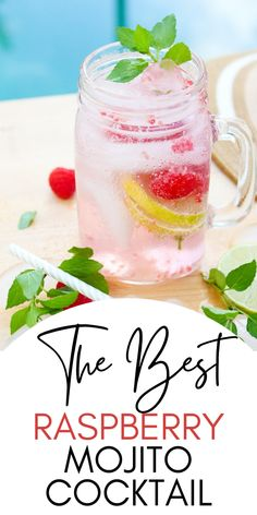 There's nothing more refreshing than an ice-cold drink on a hot, summer day. These Raspberry Mojitos are a fun twist on a classic cocktail, and their mouth-watering flavors will have you reaching for more! #mojito #raspberrymojito Easy Family Meals, Family Recipes, Quick Easy Meals, Holiday Recipes, Classic Cocktails, Summer Cocktails, Refreshing Drinks, Yummy Drinks, Mason Jar Glasses